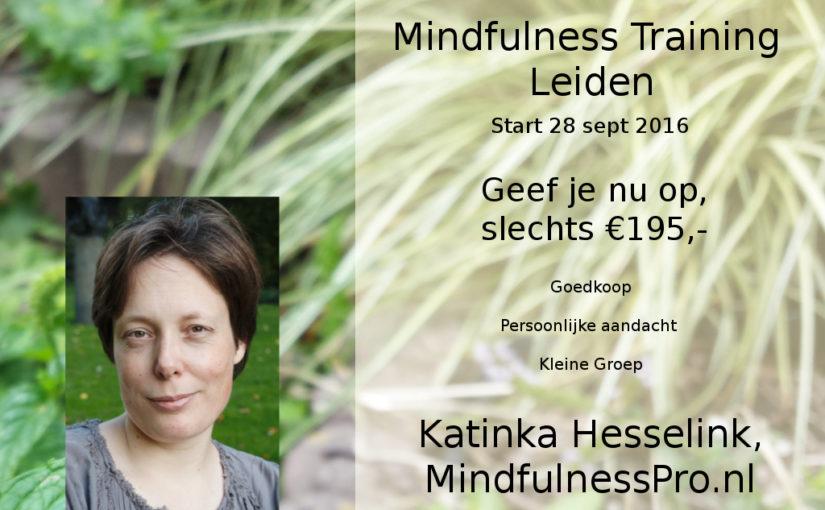 Mindfulness Training in de omgang met stress Sept, Okt, Nov 2016, Leiden